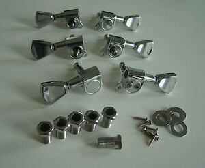 Style-Grover-Tulip-Tuners-MACHINE-HEADS-Tuning-chevilles-3-L-3R-Guitar-Parts