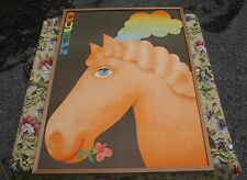 CYRK Polish Circus Poster Rainbow Horse 1973 Jerzy Czerniawksi NM