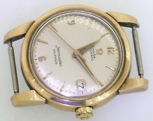 Omega-Seamaster-Calendar-2-tone-SS-Gold-vintage-automatic-men-039-s-watch-w-date