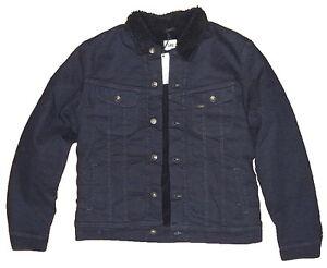 Lee-Men-039-s-Sherpa-Jacket-Herren-Teddy-Jeans-Jacke-Groessen-S-M-L-XL-XXL-waehlbar