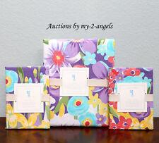 NEW Pottery Barn Kids POPPY Floral Full/Queen F/Q Duvet Cover+2 Shams Set PURPLE