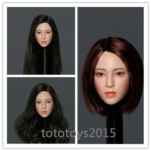 KEDU TOYS 1//6th Asian Female Head Sculpt Carving Fit 12/'/' Action Figure Body