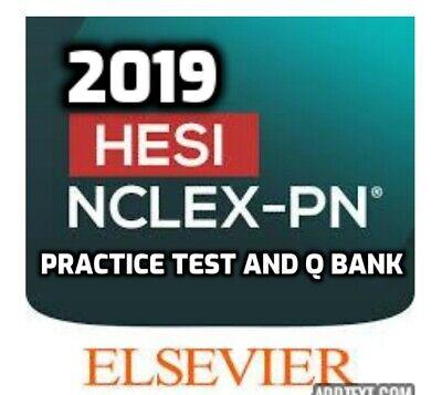 2019 HESI PN Exit Exam Practice Test Q Bank E FILE GUARANTEE PASS EBay