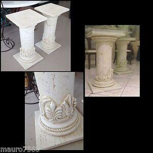 Coppia di colonne colonna in effetto travertino marmo for Tavolo effetto marmo
