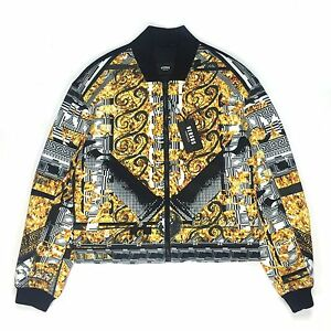 082df8b8ff Details about NWT $1.1K Versus VERSACE Men's Barocco Print Neoprene Bomber  Jacket M AUTHENTIC