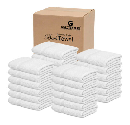 GOLD TEXTILES 60 PCS 20X40 100/% Cotton Economy Bath Towel Soft /& Quick Dry