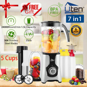 Details about 9In1 Food Blender Smoothie Maker Food Processor Fruit Juicer Coffee Grinder 1.5L