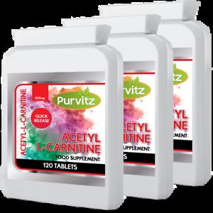 Acetil-L-Carnitina-360-capsulas-tabletas-suplemento-de-perdida-de-peso-purvitz-Hecho-UK