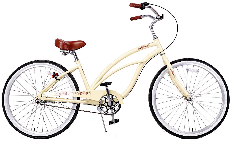 Fito Marina Aluminum 3-speed - Vanilla, Light Weight Woman's Beach Cruiser Bike