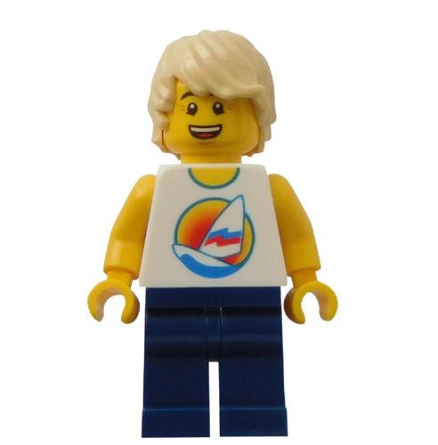 Lego Mann Shirt mit Surfbrett City twn285 Minifigur Figur Legofigur Junge Neu