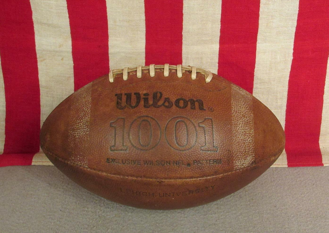 Vintage Wilson Leather Official 1001 Football w Laces Lehigh University,PA.Ball