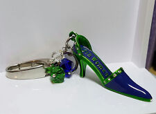 "Seattle Seahawks Inspired Jeweled ""12th Woman"" Purse Fob or Key Chain"