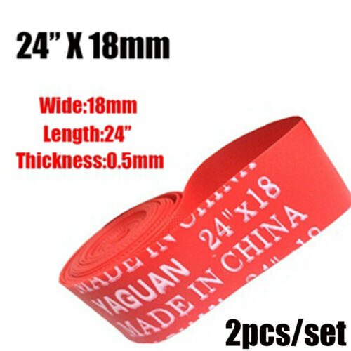 Top Red Rim Liner Bicycle Tire Liner  Bike Inner Tube Anti Puncture Tape Pad