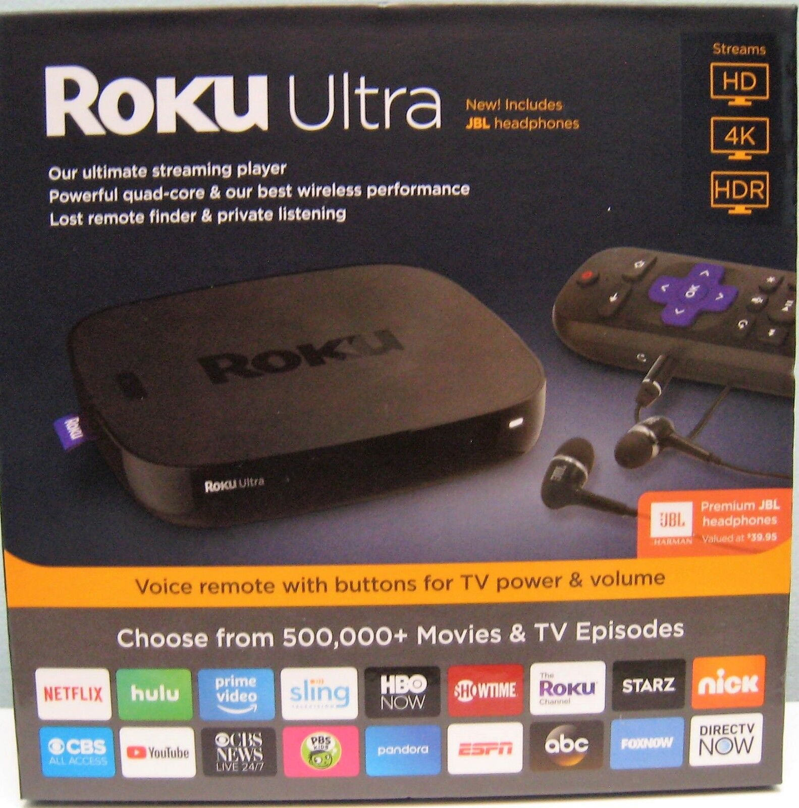 s-l1600 ROKU ULTRA (LATEST 2018 EDITION) HD MEDIA STREAMER 4661R - BLACK , NEW IN BOX