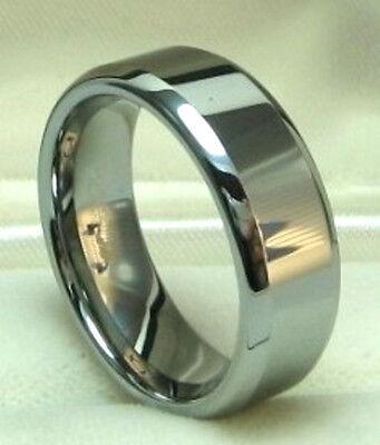 Men 8mm Titanium comfort fit ring size 11 Wedding Band Polished Shiny!