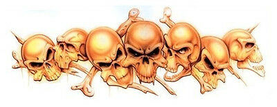 AWESOME STRING OF SKULLS VINYL BIKER R/C Sticker/Auto DECAL Art by Lethal Threat