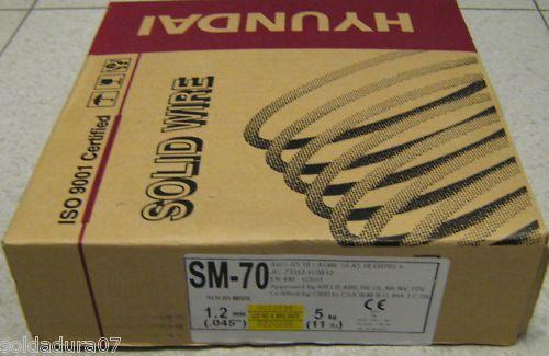 5 kg 1 bobina Alambre Soldar 1,2 mm Hyundai Korea Soldadura CON GAS ER70S-6