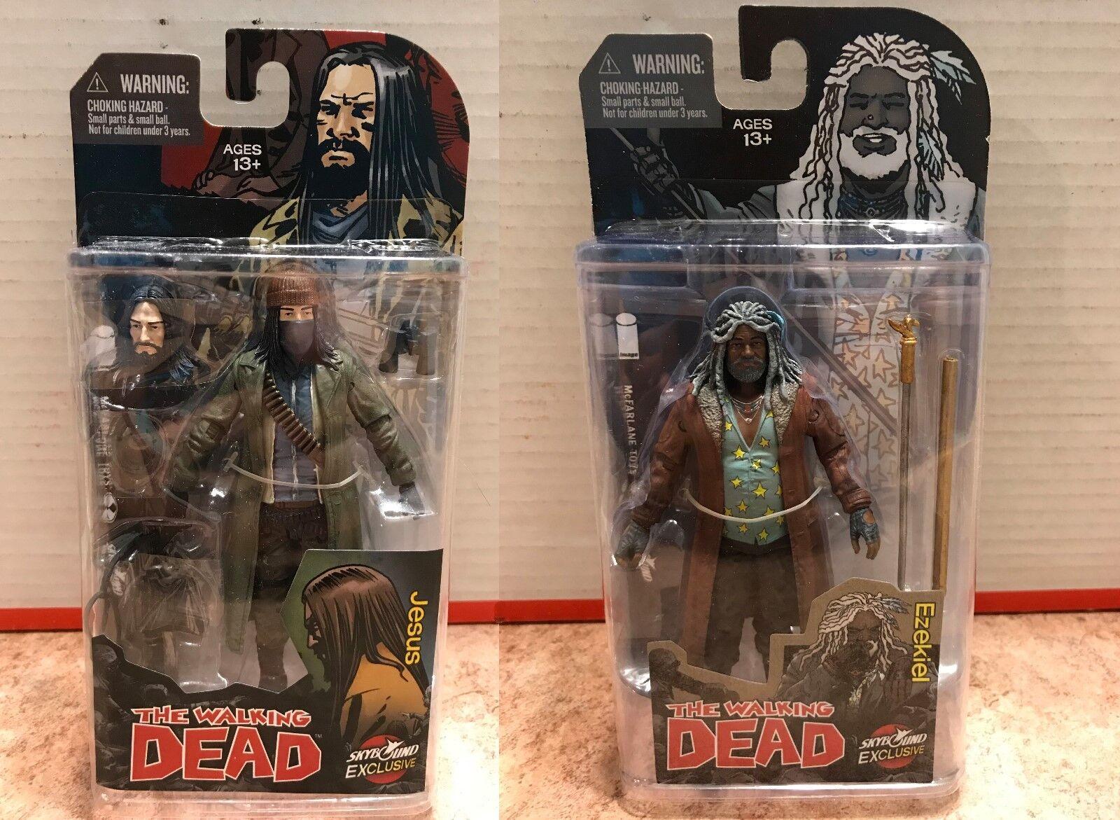 McFarlane The Walking Dead Comic Series Jesus & Ezekiel Exclusive Figures NEW