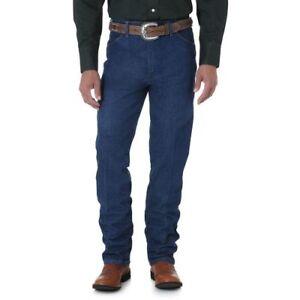 WRANGLER-Men-039-s-Cowboy-Cut-Slim-Fit-Dark-Wash-Blue-Denim-Jeans-936GBK-NWT