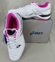 Asics Women's Gel Challenger 10 Performance Tennis Shoes White Pink 10.5