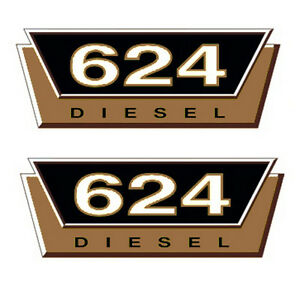 IHC Aufkleber Mc Cormick Traktor 624 gold Logo Emblem Sticker Label