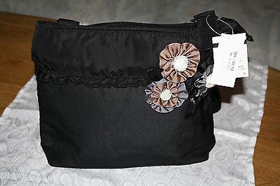 Tasche mit süße Blumen Japans Top Mode romantisch!Schwarz dekorativ Nagelneu!