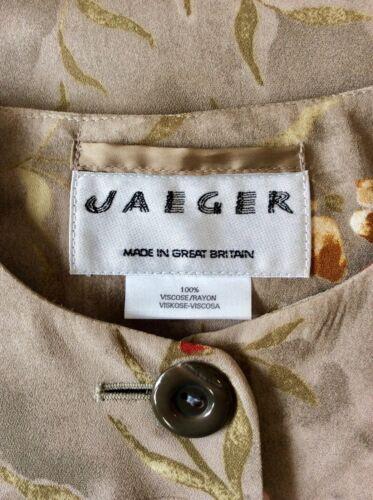 Blomsterkunst Jacket Button Størrelse Grå Front Jaeger Collarless 12 1qfA5wa8