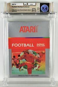 FOOTBALL REALSPORTS SOCCER Atari 2600 Brand New Factory Sealed WATA 9.4 A++ Seal