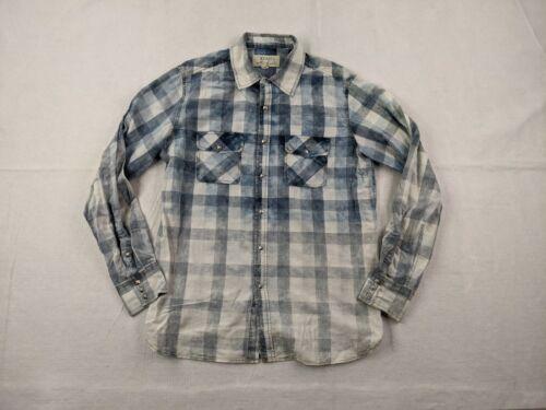 Ryan Michael Denim Snap Shirt Adult Large Men Blue