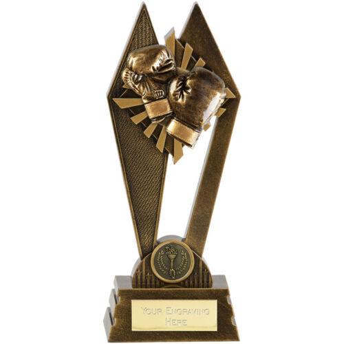 Free Engraving Solid Resin Peak Boxing Crossed Gloves Trophy