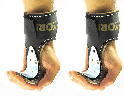 Senshi Japan Leather Weight Lifting Hooks Training Wrist Support Straps Power