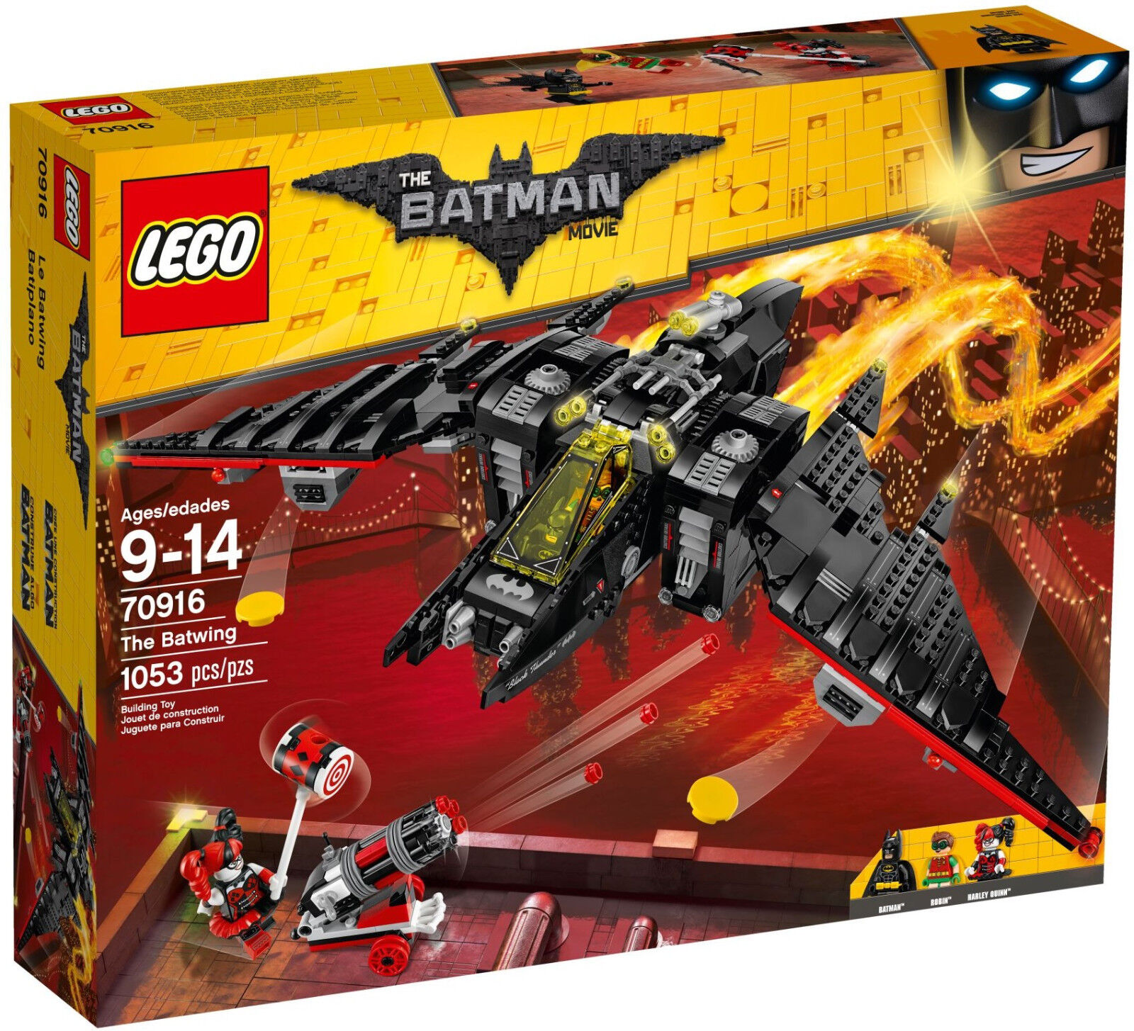 LEGO Batman Movie - 70916 The Batwing mit Robin & Harley Quinn - Neu & OVP