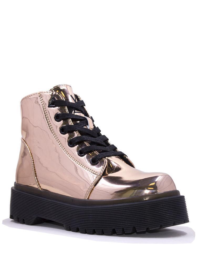elementi di novità YRU Slayr Slayer rosa oro Platform stivali scarpe da ginnastica ginnastica ginnastica scarpe Shiny Metallic Goth Punk  alta qualità generale