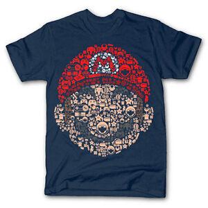 Détails sur Mario Head Brothers Retro Gaming Parodie en forme de Mashup DTG Homme T Shirt Tee afficher le titre d'origine