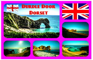 Durdle-Tuer-Dorset-UK-Souvenir-Neuheit-Kuehlschrank-Magnet-Sights-Fahne