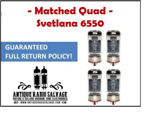KT88 VACUUM TUBES 4x QUAD SVETLANA 6550 // 6550C CURRENT MATCHED!