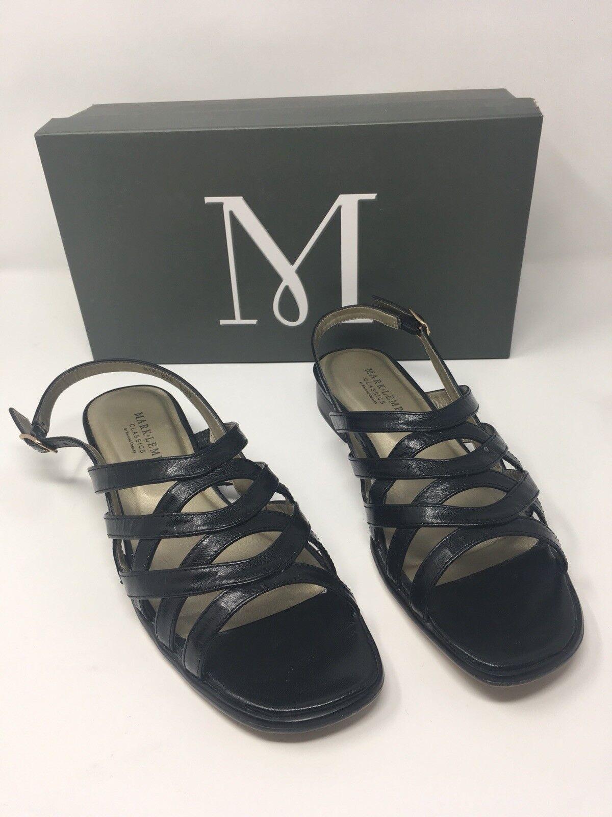 Mark Lemp Classics by Walking Cradles nero Sandal donna donna donna 8.5N Leather bb0493