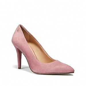 ee5ebc21a08dd Details about Coach Womens Dusty Rose Suede Pump Dress Shoes 7 NEW IN BOX