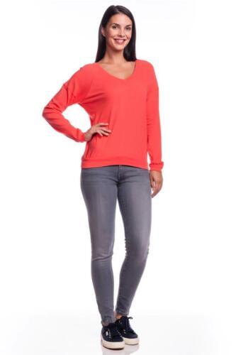 C/&C California Long Sleeve Double-V Sweatshirt Cayenne Orange NEW Jersey Cotton