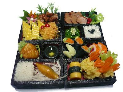 10 2 Sushi Bento Japanese Food Dollhouse Miniatures Food Supply Boat Deco