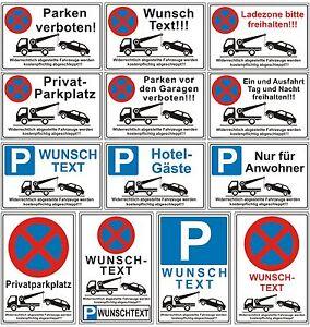 parkplatzschild parken verboten hinweisschild halteverbot. Black Bedroom Furniture Sets. Home Design Ideas
