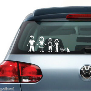 Car Truck Van Vehicle Window Family Figures Vinyl Decal Sticker - Family decal stickers for carscar truck van vehicle window family figures vinyl decal sticker
