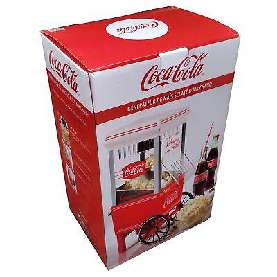 Coke Hot Air Popcorn Maker Nostalgia Coca-Cola Series Countertop Machine