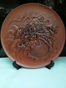 DRAGON-Antique-Design-BIG-Deco-Plate-Home-Decoration-Plate-Collection-with-Stand