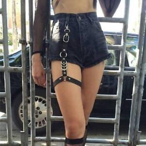 0a02a85b2e1 Leather Harness Women Thigh Straps Leg Garter Gothic Sexy Stocking ...