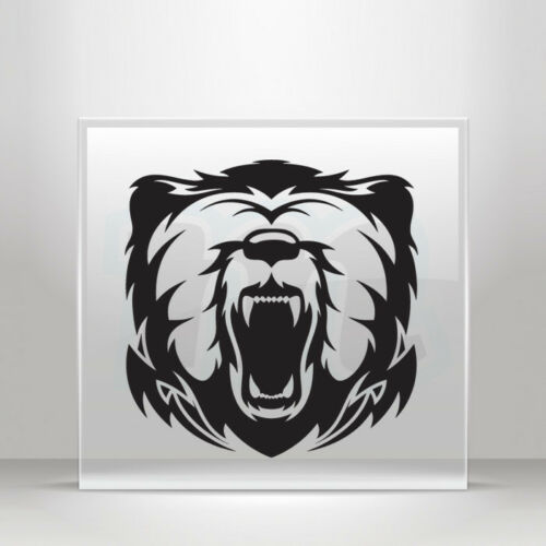 Sticker Decal Bear Head Mascot Angry Attack Helmet durable A19 2889W