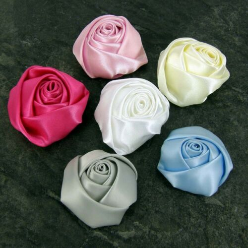 6X grandes roses boutonnières bébé robe de mariage tableau bouquet fleurs 6 cm