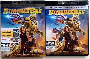 BUMBLEBEE-4K-ULTRA-HD-BLU-RAY-2-DISC-SET-SLIPCOVER-SLEEVE-TRANSFORMERS-COMIC