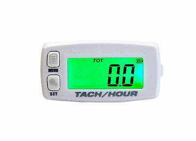 Marine Tach Hour Meter tachometer RPM display outboard backlit jetski boat pwc