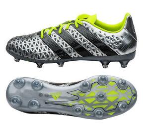 classic fit 30a7e a6ba6 Details about New Men adidas ACE 16.2 FG-AG Soccer Cleats Sz 13  Silver/Volt/Black S31885